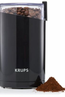 KRUPS-F203-Electric-Spice-and-Coffee-Grinder-with-Stainless-Steel-Blades-Black-0