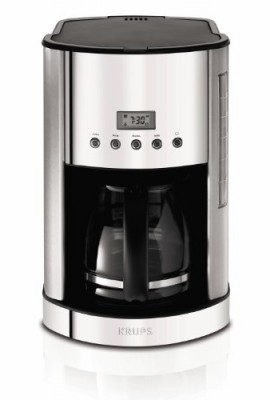 KRUPS-KM730D50-Breakfast-Set-Coffee-Maker-with-Brushed-and-Chrome-Stainless-Steel-Housing-Silver-12-Cup-0