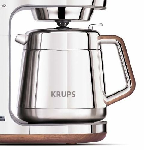 Coffee Maker Stainless Carafe : Coffee Consumers KRUPS KT600 Silver Art Collection Thermal Carafe Coffee Maker with Chrome ...