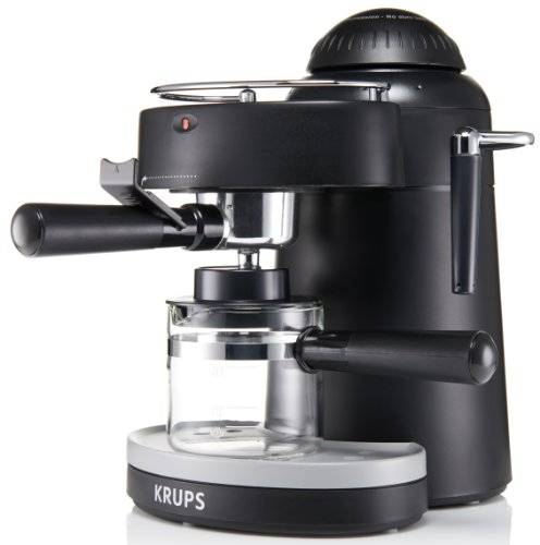 coffee consumers krups xp1000 steam espresso machine with frothing nozzle for cappuccino black. Black Bedroom Furniture Sets. Home Design Ideas
