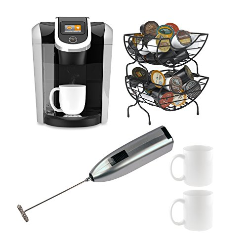 Keurig Coffee Maker Milk Frother : Coffee Consumers Keurig K450 2.0 Brewer (Black) with Coffee Baskets, Milk Frother, and Two 11 ...