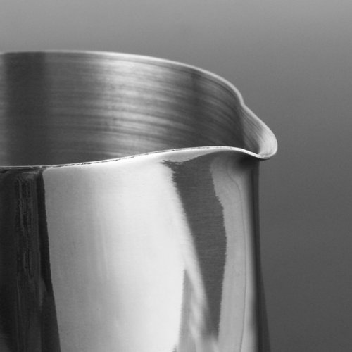 KobwaTM-Silver-Stainless-Steel-Milk-Frothing-Pitcher-Thicken-Japanese-Stype350ml-With-Kobwas-Keyring-0-0
