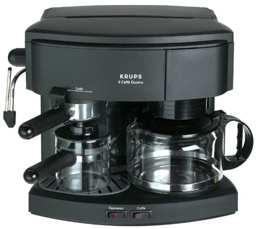 coffee consumers krups 985 42 il caffe duomo coffee and espresso machine black. Black Bedroom Furniture Sets. Home Design Ideas