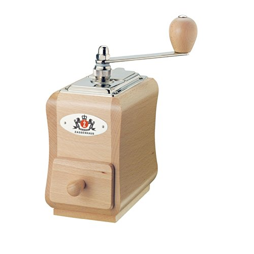 Kuchenprofi-40098-Zassenhaus-Santiago-Manual-Coffee-Mill-Varnished-Beech-Wood-0