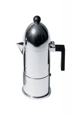 La-Cupola-Espresso-Maker-by-Aldo-Rossi-Size-6-cup-Handle-Color-Black-Finish-Aluminum-0