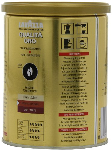 Lavazza-Qualita-Oro-Ground-Coffee-88-Ounce-Cans-Pack-of-4-0-2