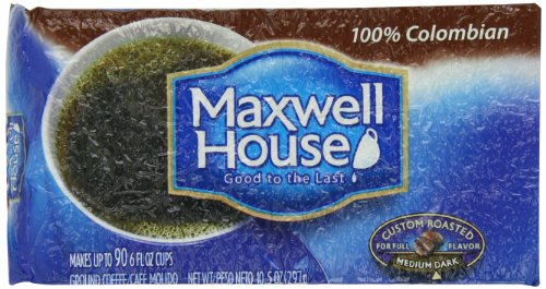 Coffee Consumers Maxwell House 100 Colombian Ground
