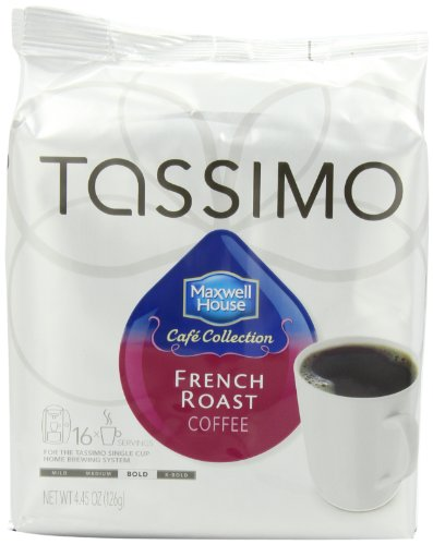 Maxwell-House-Cafe-Collection-French-Roast-Coffee-T-Discs-for-Tassimo-Coffeemakers-445-ounce-16-Count-Packages-Pack-of-5-0