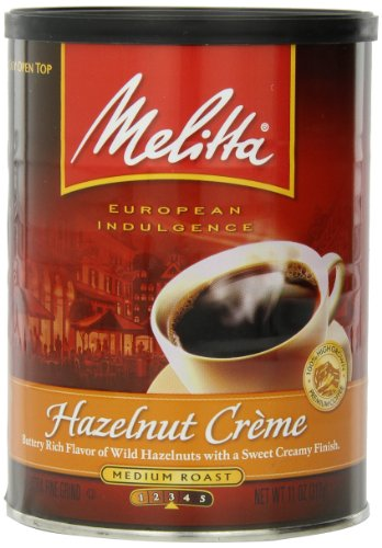 Melitta-Coffee-Hazelnut-Crme-Ground-Medium-Roast-Flavored-11-Ounce-0