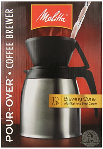 German Pour Over Coffee Maker : Coffee Consumers Melitta Coffee Maker, 10 Cup Pour- Over Brewer with Stainless Thermal Carafe