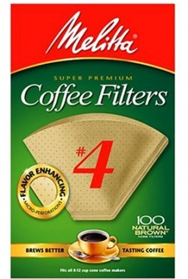 Melitta-Cone-Coffee-Filters-Natural-Brown-4-100-count-0