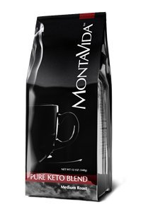 Montavida-Medium-Roast-Coffee-Pure-Keto-Blend-12-Oz-Bag-with-MCT-Oil-0