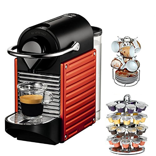 coffee consumers nespresso c60usrene pixie c60 single cup espresso maker red caf moulu 13. Black Bedroom Furniture Sets. Home Design Ideas