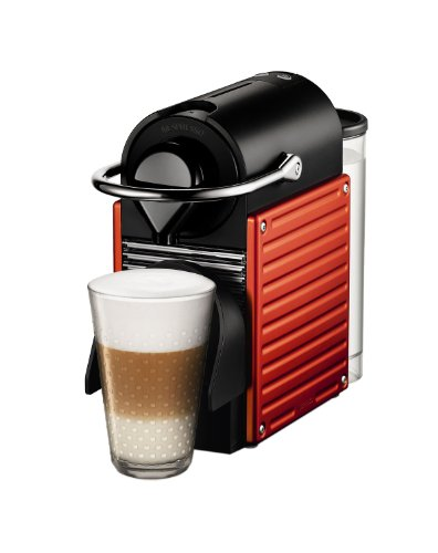 Single Cup Coffee Maker Nespresso : Coffee Consumers Nespresso C60USRENE Pixie C60 Single Cup Espresso Maker Red + Cafe Moulu 13 ...