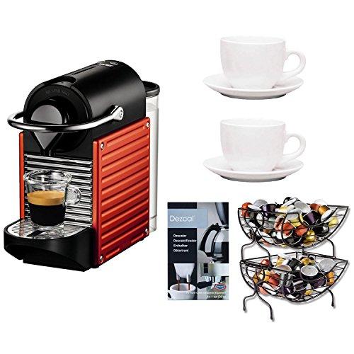 Nespresso K Cup Coffee Maker : Coffee Consumers Nespresso C60USRENE Pixie C60 Single Cup Espresso Maker in Red + Single Serve ...