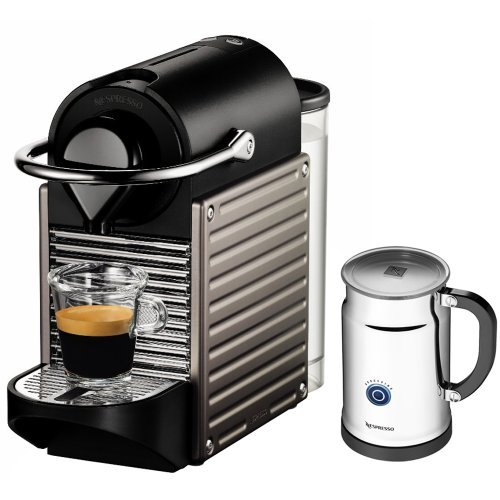 Coffee Consumers Nespresso Pixie C60 Single Cup Espresso Maker (Titanium) + Nifty 40 Capsule ...