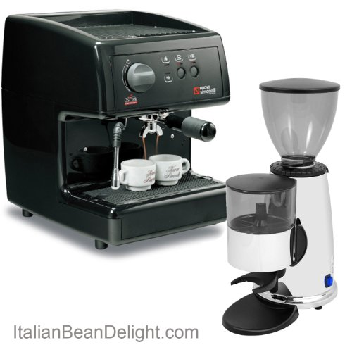 Nuova-Simonelli-Oscar-Macap-Doser-Grinder-Gourmet-Espresso-Latte-Combo-0