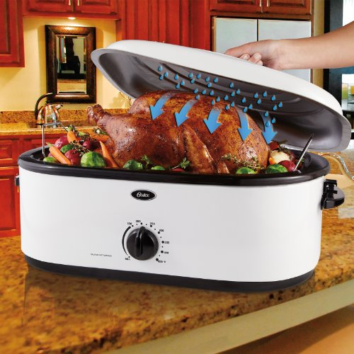 Oster 22 Quart Roaster Oven With Self Basting Lid: Oster CKSTRS16-WSB Self-Basting Roaster