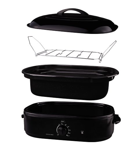 Oster 16 Quart Roaster With Self Basting Lid On Oster Com: Oster CKSTRS18-BSB 18-Quart Roaster