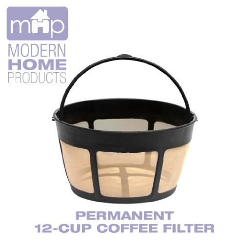 Coffee Consumers Permanent 12 Cup Basket Shape Gold Tone Coffee