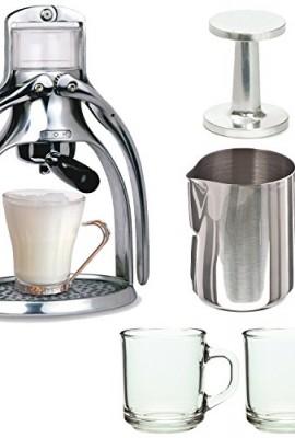 ROK-Manual-Espresso-Maker-with-Espresso-Tamper-188-gauge-20-oz-Frothing-Pitcher-2-10oz-Mugs-0