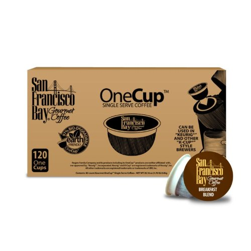 Coffee Consumers San Francisco Bay OneCup, Breakfast Blend, 120 Single Serve Coffees