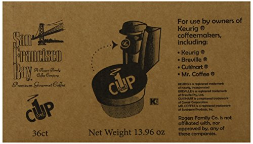 Coffee Maker Repair San Francisco : Coffee Consumers San Francisco Bay OneCup, Organic Rainforest Blend, 36 Single Serve Coffees
