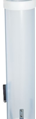 San-Jamar-C3165-Medium-Pull-Type-Water-Cup-Dispenser-Fits-4oz-to-10oz-Cone-and-Flat-Cup-Size-2-14-to-3-14-Rim-16-Tube-Length-Frosted-Blue-0