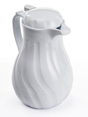 Coffee Consumers Set Of 2 1 2 Liter White Swirl