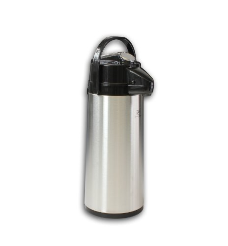 coffee consumers stainless steel lined hot beverage carafe with lever pump lid 6 x 17 1 2 x 6. Black Bedroom Furniture Sets. Home Design Ideas