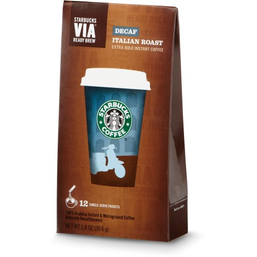 Coffee Consumers Starbucks VIA Ready Brew Decaf Italian Roast Coffee by Starbucks Coffee
