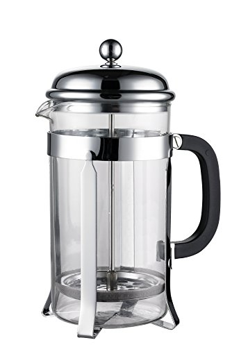 coffee consumers sterlingpro french coffee press 8 cup 4 mug 1 liter 34 oz chrome. Black Bedroom Furniture Sets. Home Design Ideas