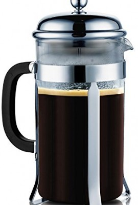 SterlingPro-8-Cup-4-oz-each-Durable-Coffee-Espresso-Maker-with-Stainless-Steel-Plunger-Heat-Resistant-Glass-0