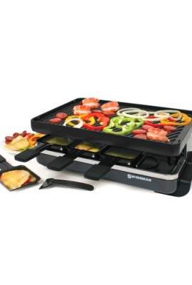 Swissmar-8-Person-Classic-Raclette-with-Reversible-Cast-Iron-Grill-Plate-Black-0