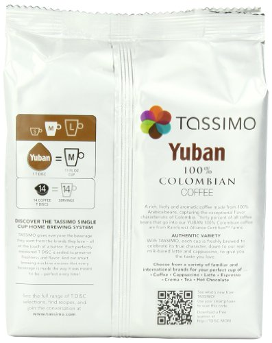 Coffee Consumers Tassimo Yuban 100 Colombian Coffee