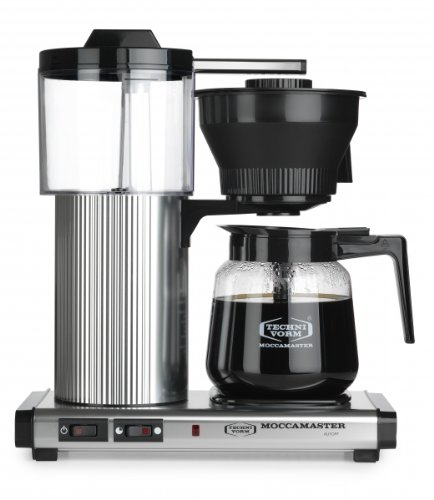 Coffee Consumers Moccamaster CD Grand 15-Cup Coffee Brewer with Glass Carafe, Brushed Silver