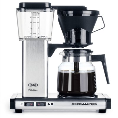 Technivorm Moccamaster Coffee Maker With Glass Carafe Brushed Silver : Coffee Consumers Technivorm Moccamaster KB-741 Coffee Brewer Brushed Silver