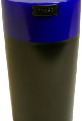 Tightvac-12-Ounce-Vacuum-Sealed-Dry-Goods-Storage-Container-Black-BodyDk-Blue-Cap-0