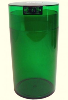 Tightvac-12-Ounce-Vacuum-Sealed-Dry-Goods-Storage-Container-Emerald-Tinted-BodyCap-0