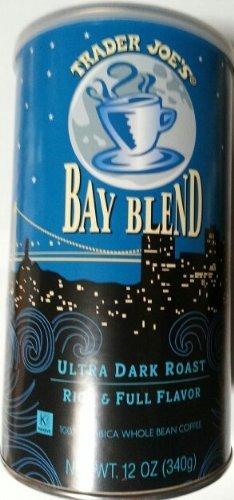 Trader-Joes-Bay-Blend-Ultra-Dark-Roast-Rich-Full-Flavor-100-Arabica-Whole-Bean-Coffee-12-Oz-0