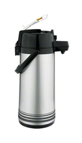 Update-International-LSVL-25-ORSF-Brushed-Stainless-Steel-Lever-Top-Decaf-Airpot-Server-25-Liter-6-Inch-0