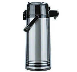 Update-International-NPD-25-BKSF-Brushed-Stainless-Steel-Airpot-with-Black-Button-Top-25-Liter-0