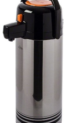 Update-International-NPD-25-ORSF-Brushed-Stainless-Steel-Airpot-with-Orange-Button-Top-25-Liter-0