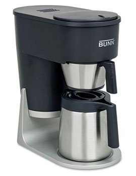 Velocity-Brew-STX-10-Cup-Coffee-Brewer-Graphite-Black-by-BUNN-O-MATIC-Catalog-Category-Office-Maintenance-Janitorial-Lunchroom-Food-Beverage-Appliances-0