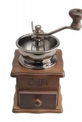 Vktech-Mini-Manual-Coffee-Mill-Wood-Stand-Metal-Bowl-Antique-Hand-Coffee-Bean-Grinder-0