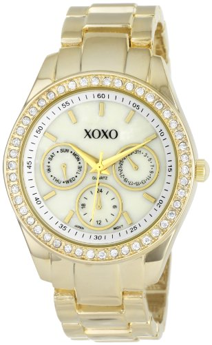 XOXO-Womens-XO5302A-Rhinestone-Accented-Gold-Tone-Bracelet-Watch-0