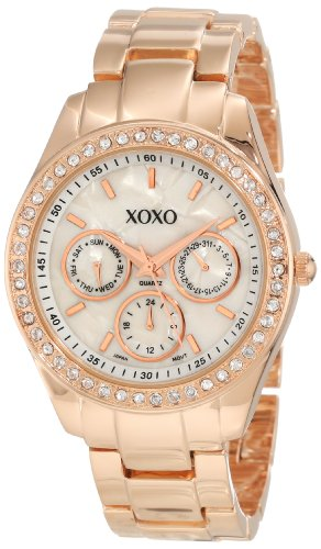 XOXO-Womens-XO5386-Rhinestone-Accent-Rose-Gold-Dress-Watch-0