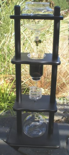 Yama-Glass-25-Cup-Cold-Drip-Maker-Straight-Black-Wood-Frame-0-1