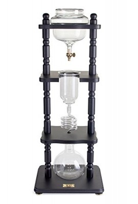 Yama-Glass-25-Cup-Cold-Drip-Maker-Straight-Black-Wood-Frame-0