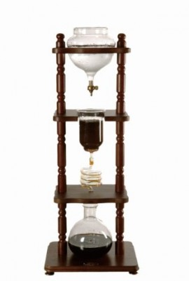 Yama-Glass-6-8-Cup-Cold-Drip-Maker-Curved-Brown-Wood-Frame-0